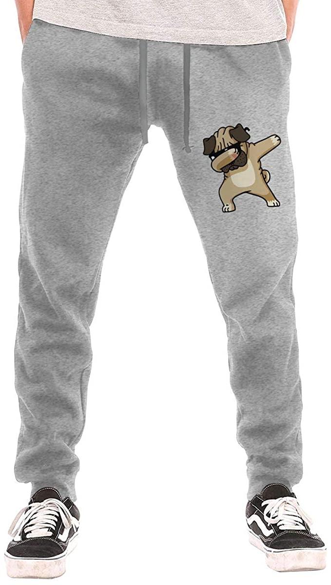 Field Rain Pug Dog Fashion Men's Breathable Causual Soft Long Sweatpants Sport Pants