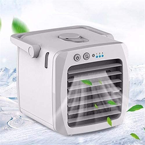 PBQWER Personal Air Cooler, Portable Cooling Air Conditioner with USB, 3 in 1 Evaporative Coolers, Humidifier and Purifier, Desktop Cooling Fan for Office, Home, Travel, Dorm