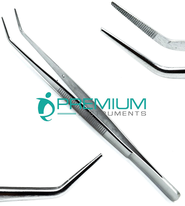 Dental Tweezer College 16cm Plier Cotton Surgical Forcep Diagnostic Serrated Tip Instruments