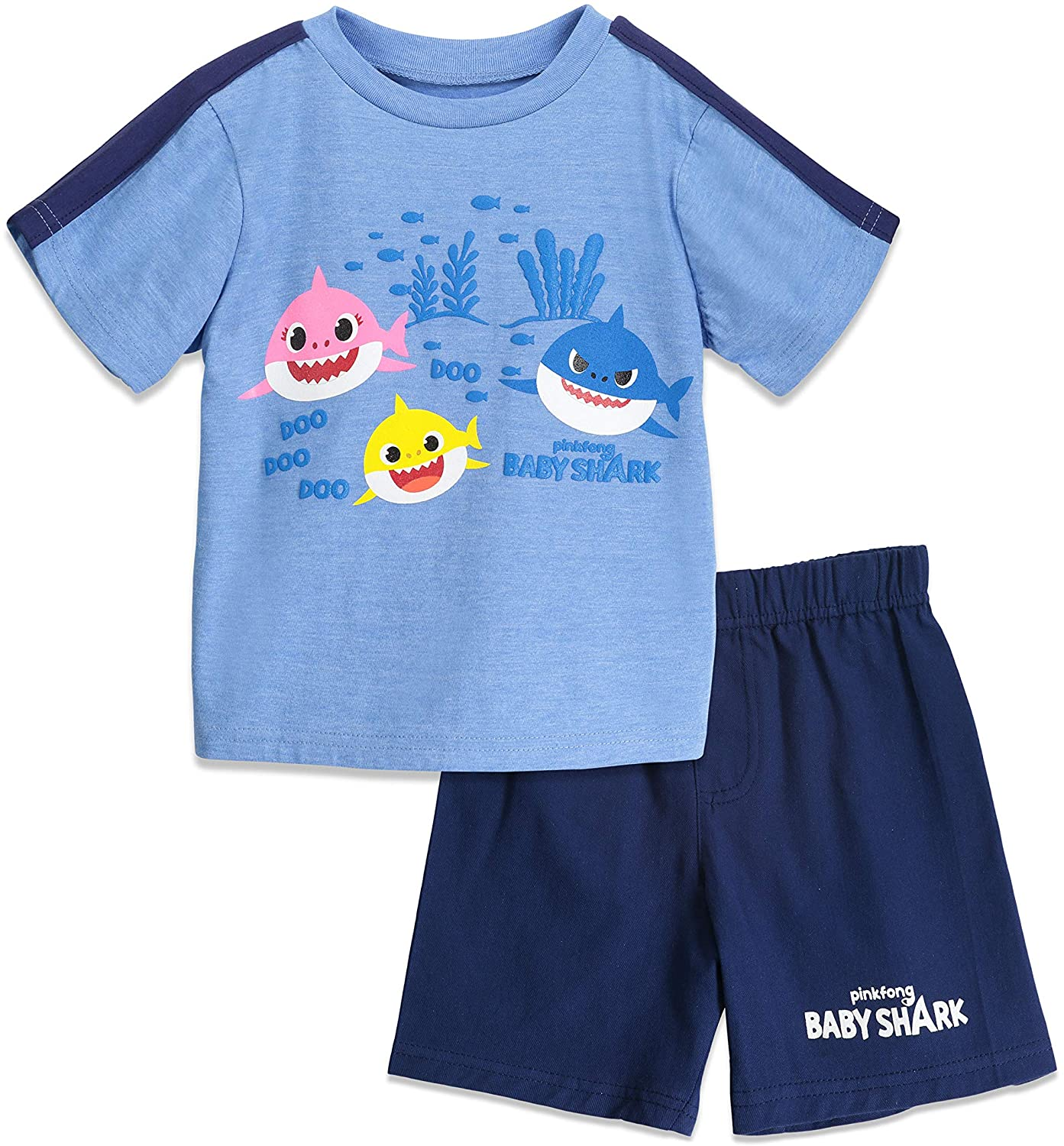 Pinkfong Baby Shark Boys T-Shirt & French Terry Shorts Set