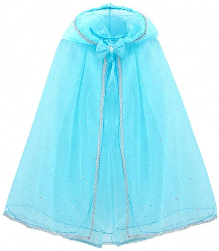 Luzlen Girls Hooded Cloak Cape Princess Halloween Costume Dress Up for Cosplay