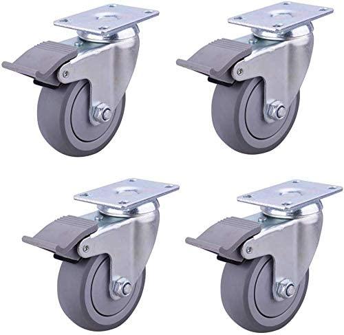 Rolling silent brake wheel silent high performance car scaffold brake wear shock absorption 3 inch 4 inch quiet