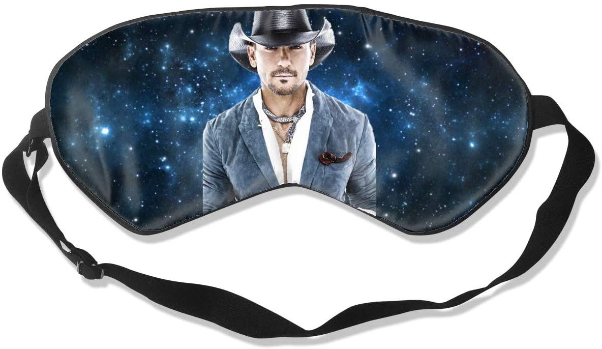WushXiao Luanelson Tim McGraw Fashion Personalized Sleep Eye Mask Soft Comfortable with Adjustable Head Strap Light Blocking Eye Cover