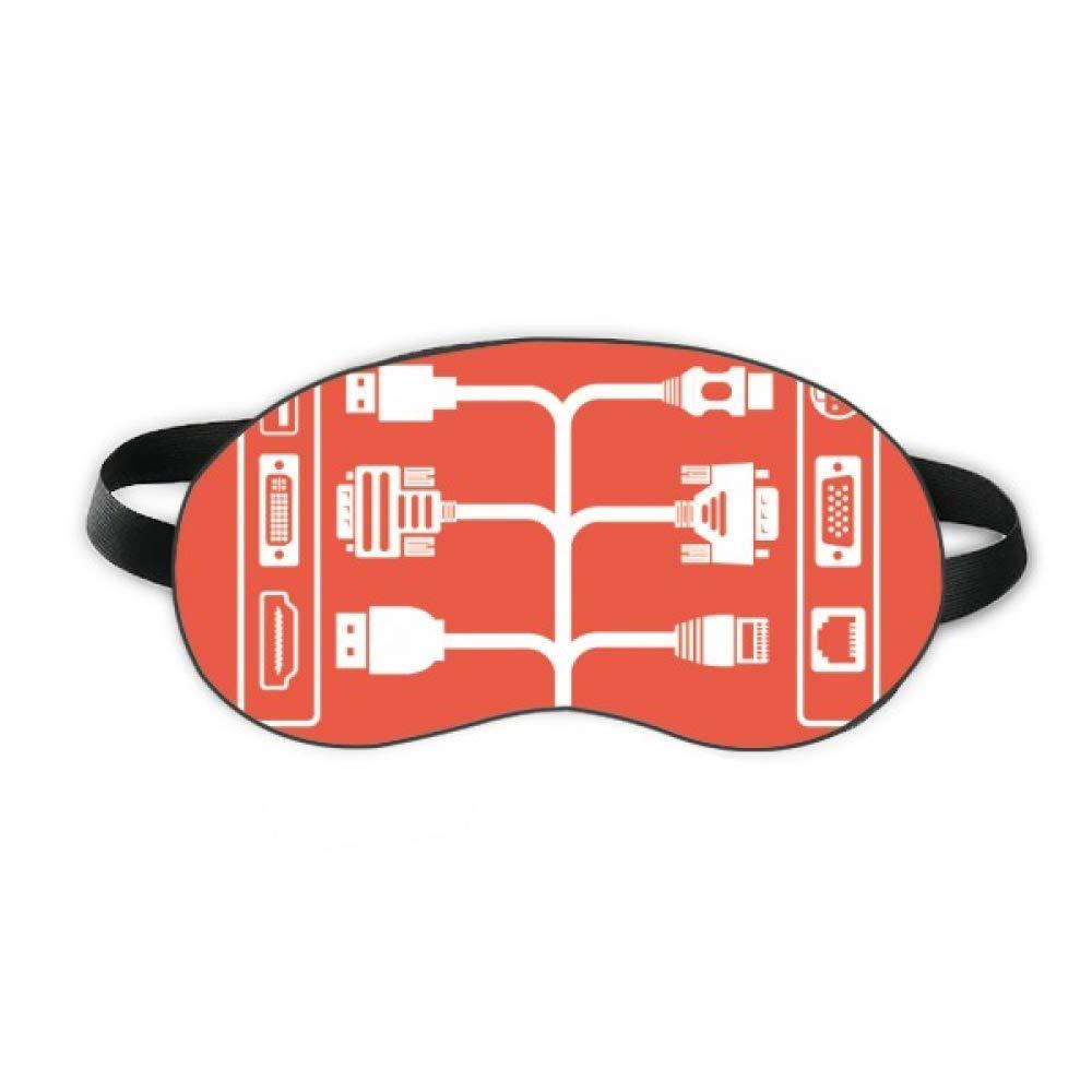 Charging Cable Socket Plug Pattern Sleep Eye Shield Soft Night Blindfold Shade Cover
