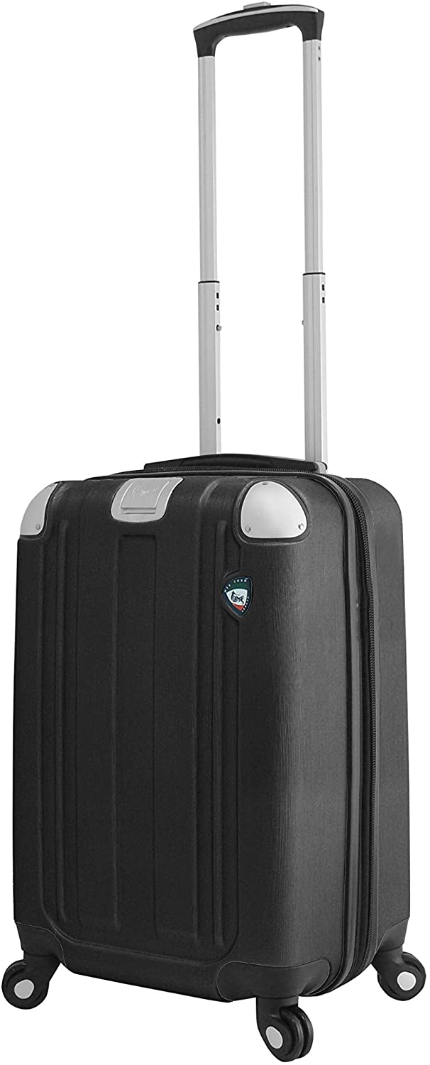 Mia Toro Italy Accera Hardside Spinner Carry-on, Graphite, One Size