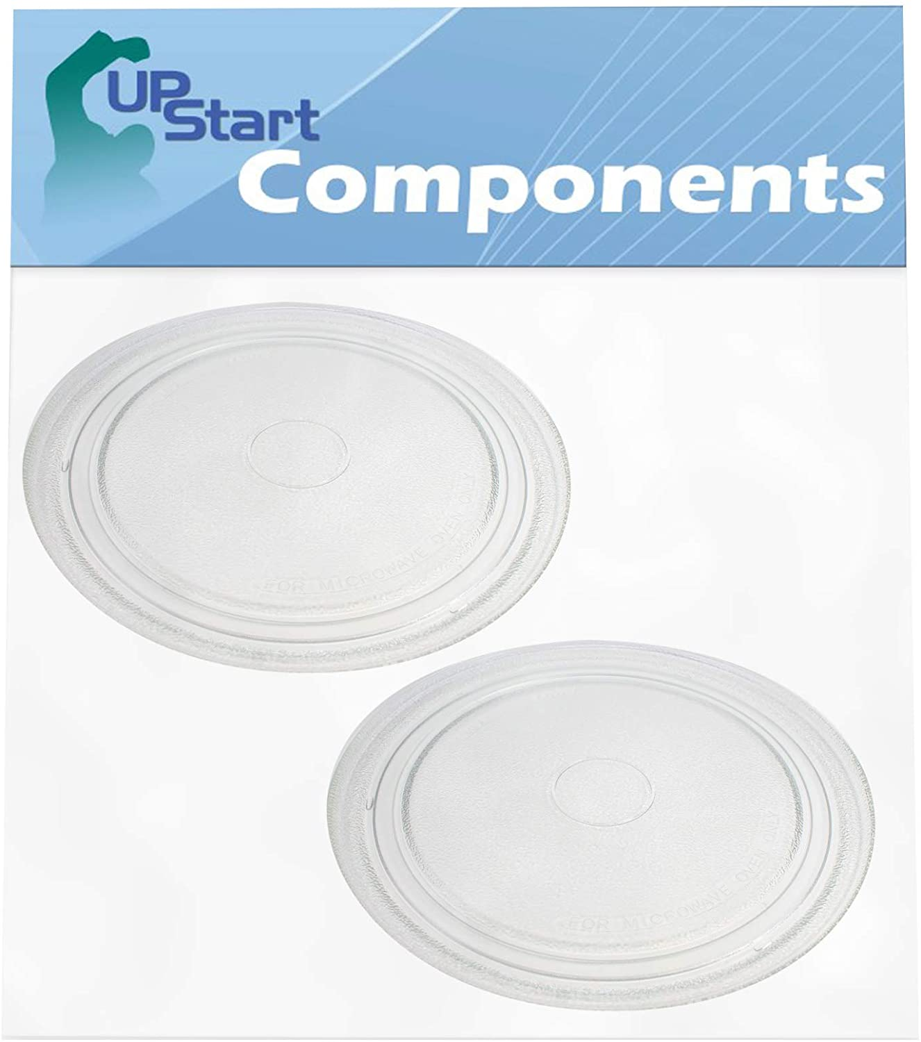 2-Pack NTNT-A034WRE Microwave Glass Turntable Plate Replacement for Sharp NTNT-A034WRF0 - Compatible with A034 10 3/4 Inch Glass Tray
