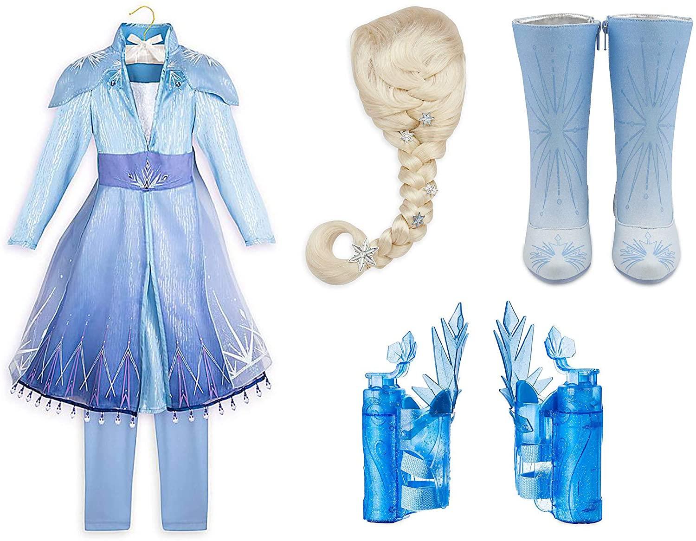 Disney Store Frozen 2 Girls Elsa Deluxe Costume Set