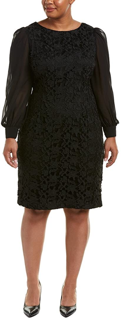 Adrianna Papell Womens Size Plus Bshp SLV Ava Lace Sth