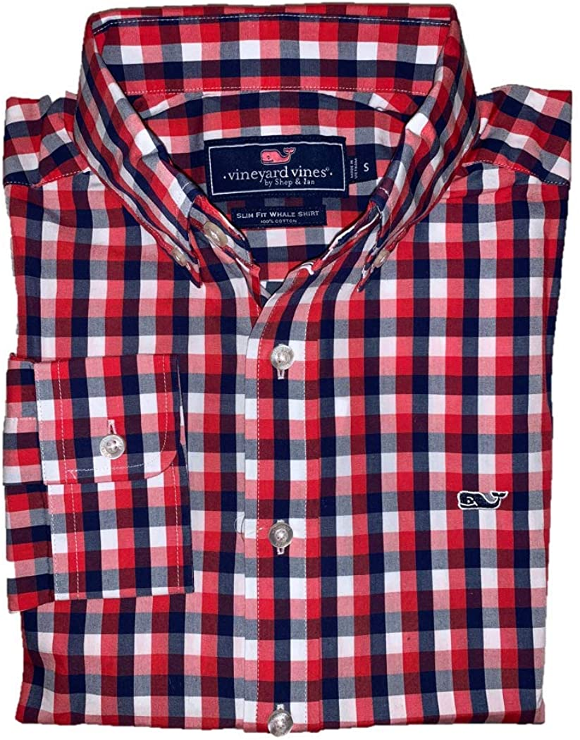 Vineyard Vines Men's Slim Fit Whale Shirt - Nauset Genoa Check