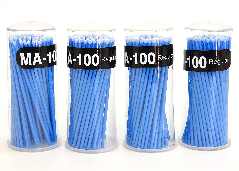 400 PCS Disposable Micro Brush Swab Applicators Eyelash Extension Regular