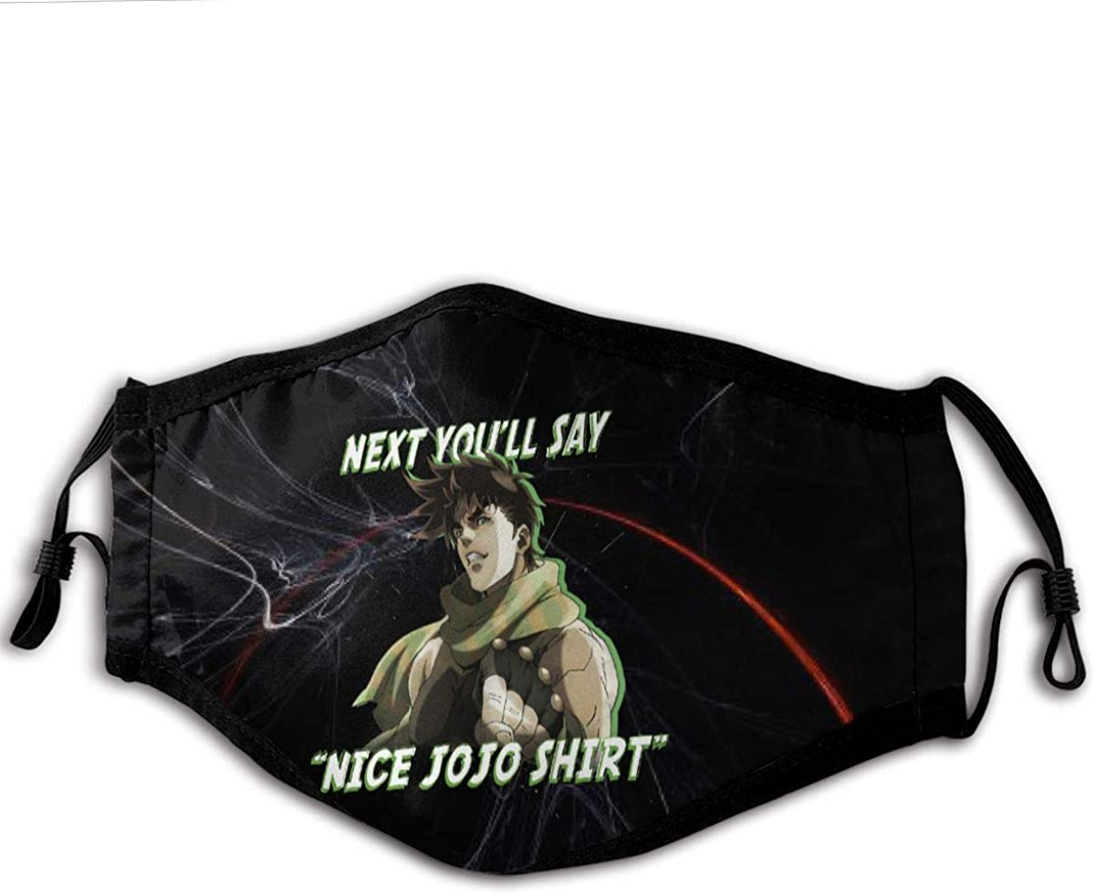 JoJo's Bizarre Adventure Next You'll Say Unisex Dust Anti Windproof Mouth Face Washable Scarf