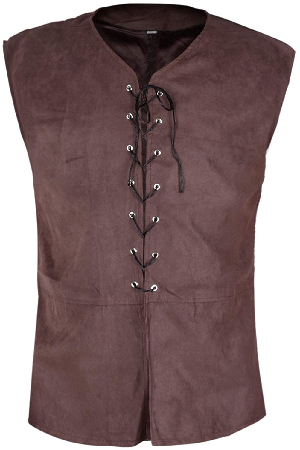 Mens Medieval Vest 18th Century Sleeveless Waistcoats Gothic Steampunk Dublets Renaissance Chevalier Pirate Costume