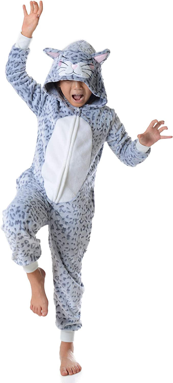 Unisex Kids Unicorn Onesie Pajamas Girls Animal Halloween Costumes