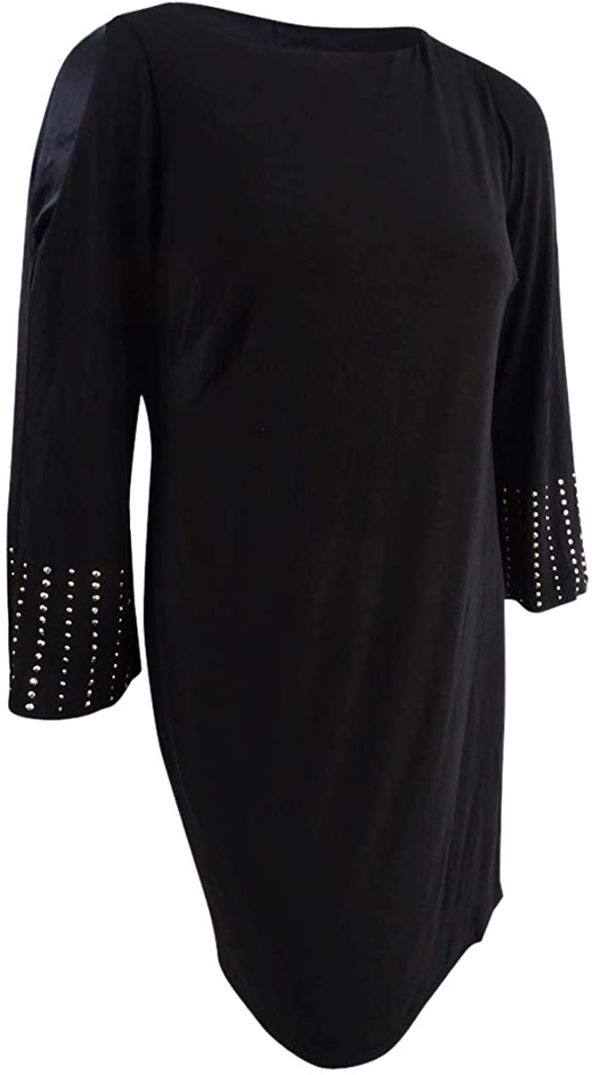 Jessica Howard Womens Plus Studded Cold Shoulder Party Dress