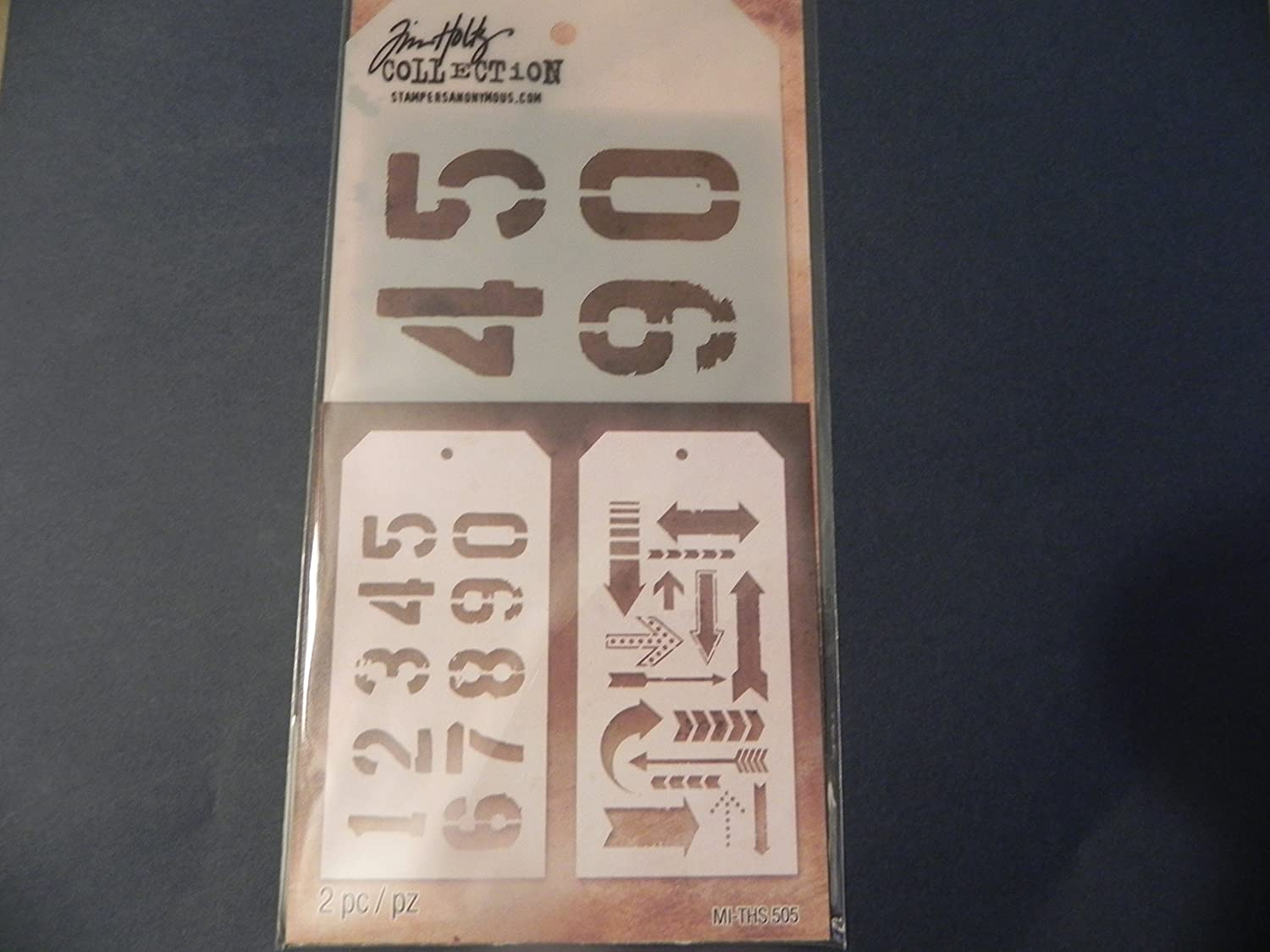 Tim Holtz Layering Stencil Duos ~ Numbered & Arros!!!