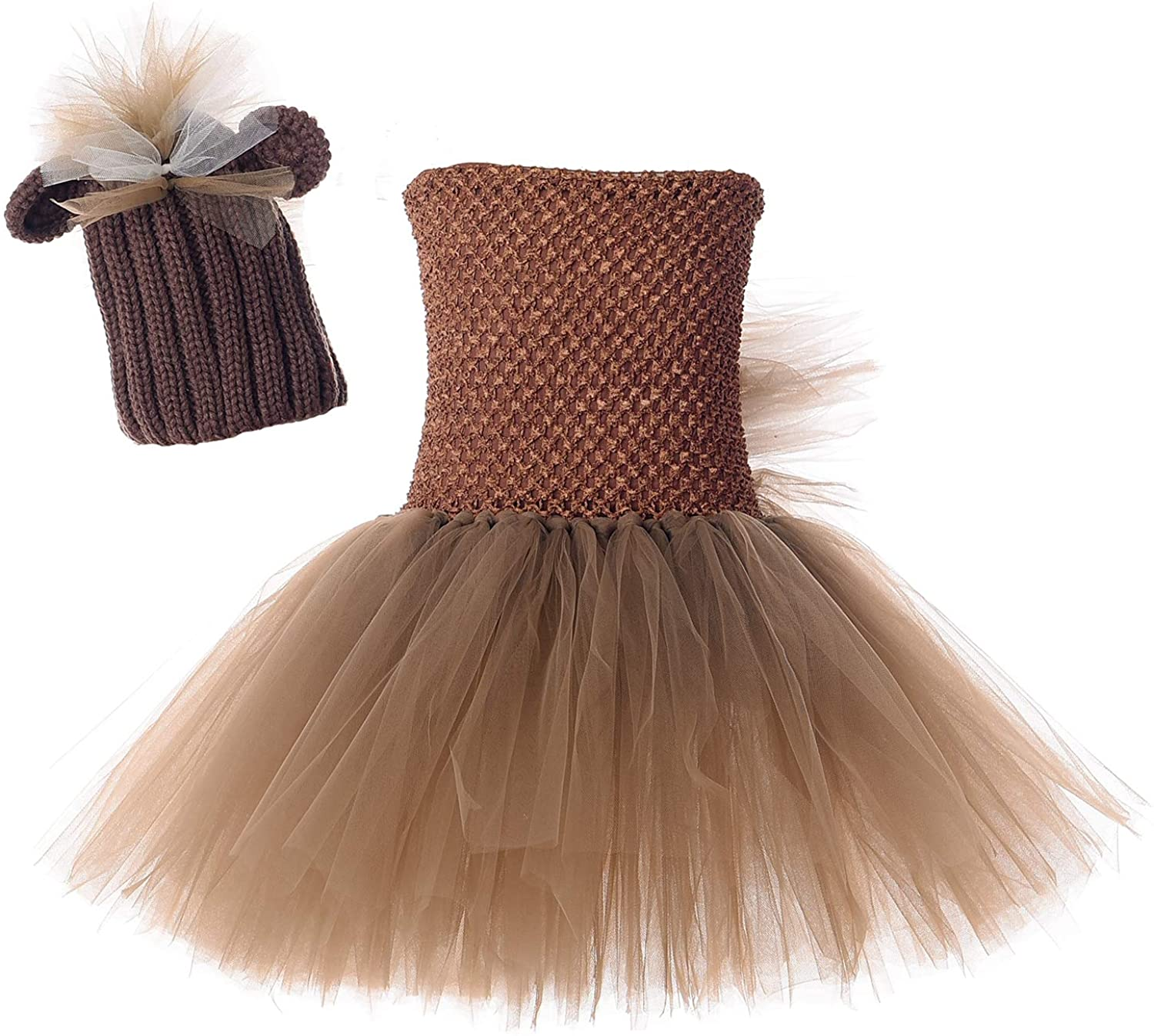 Tutu Dreams Mane House Costume with Hat for Girls Hallowen Animal Dress Up Outfit