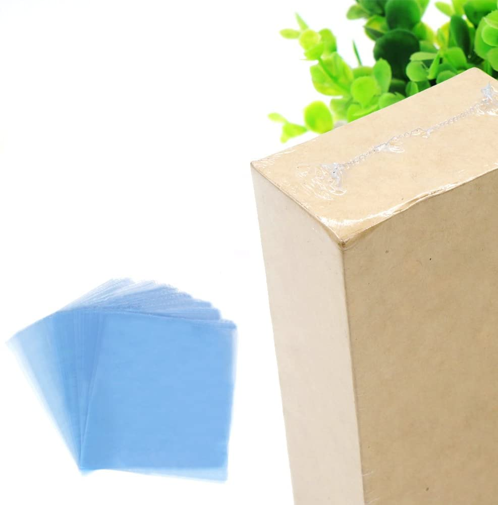 Kangkang@ 100Pcs 13.39 x 9.45inches PVC Shrink Wrap Film Flat Bags Heat Seal for Soaps Bath Bombs Handmade DIY Crafts