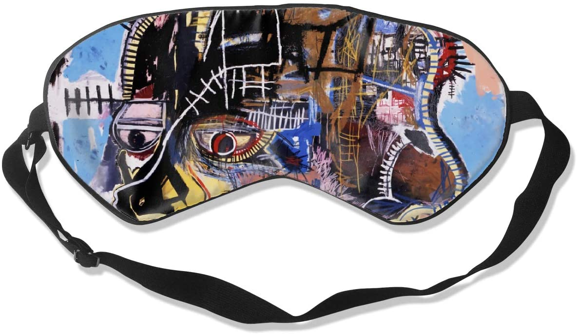 Luanelson Jean-Michel Basquiat Fashion Personalized Sleep Eye Mask Soft Comfortable with Adjustable Head Strap Light Blocking Eye Cover