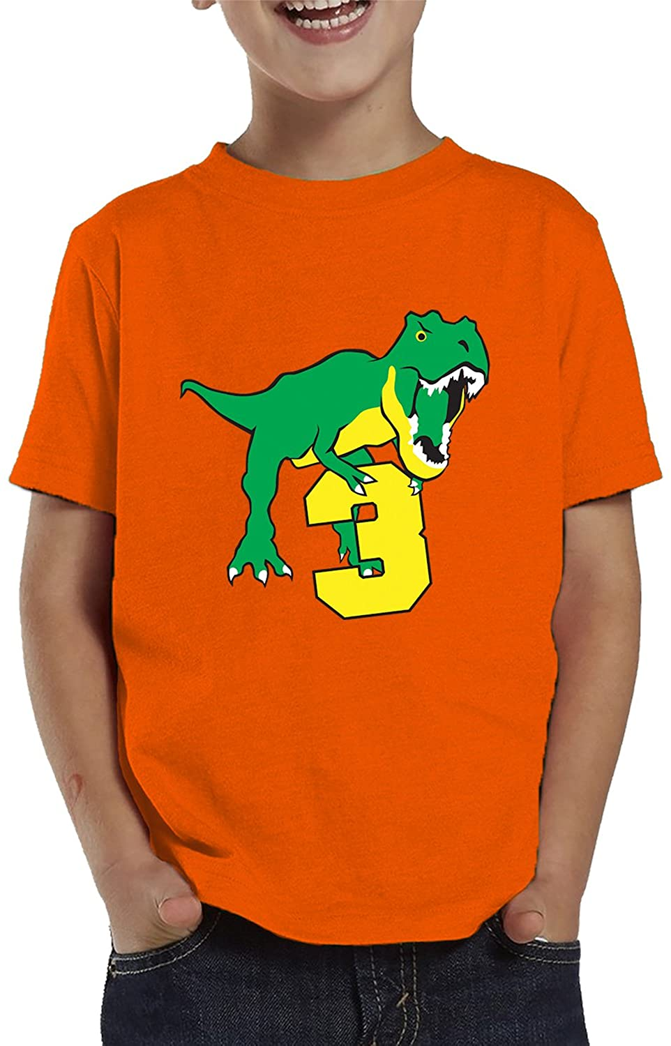 SpiritForged Apparel Dinosaur 3 Year Old Toddler T-Shirt