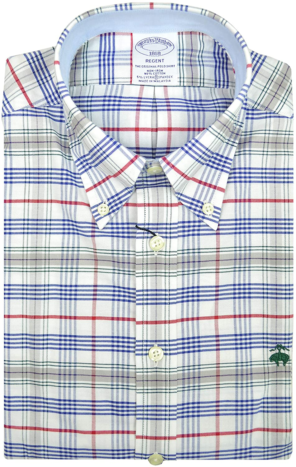 Brooks Brothers Mens Regent Fit All Cotton The Original Polo Button Down Oxford Shirt Multi Plaid