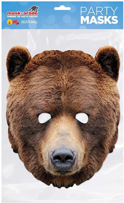 Rubies France - MBEAR001 - Mask - Cardboard Bear