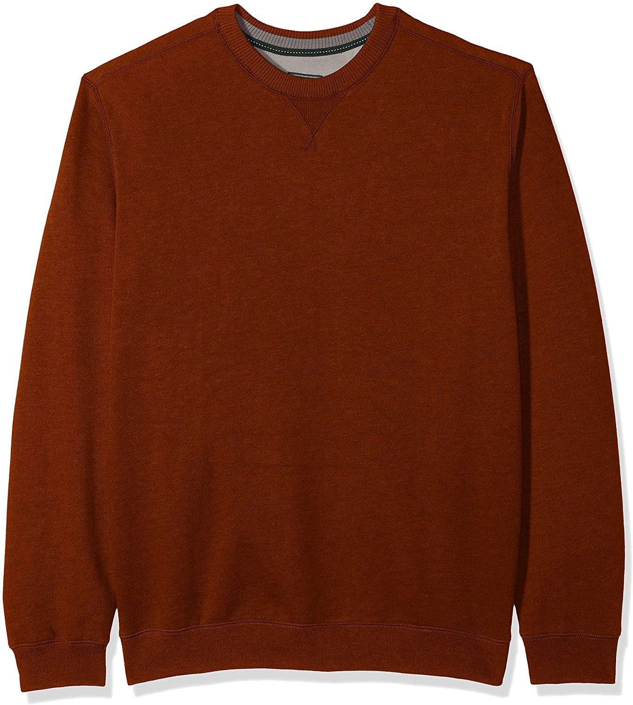 G.H. Bass & Co. Men's Big and Tall Mountain Fleece Long Sleeve Sueded Fleece Crewneck