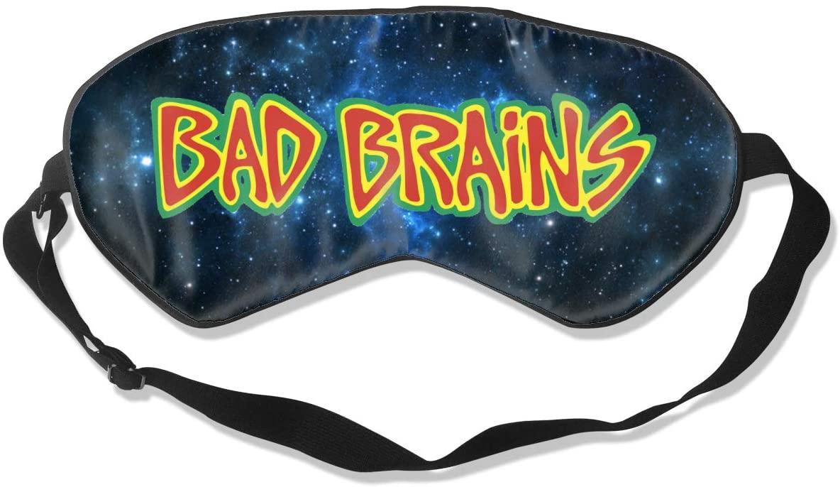 WushXiao Luanelson Bad Brains Fashion Personalized Sleep Eye Mask Soft Comfortable with Adjustable Head Strap Light Blocking Eye Cover
