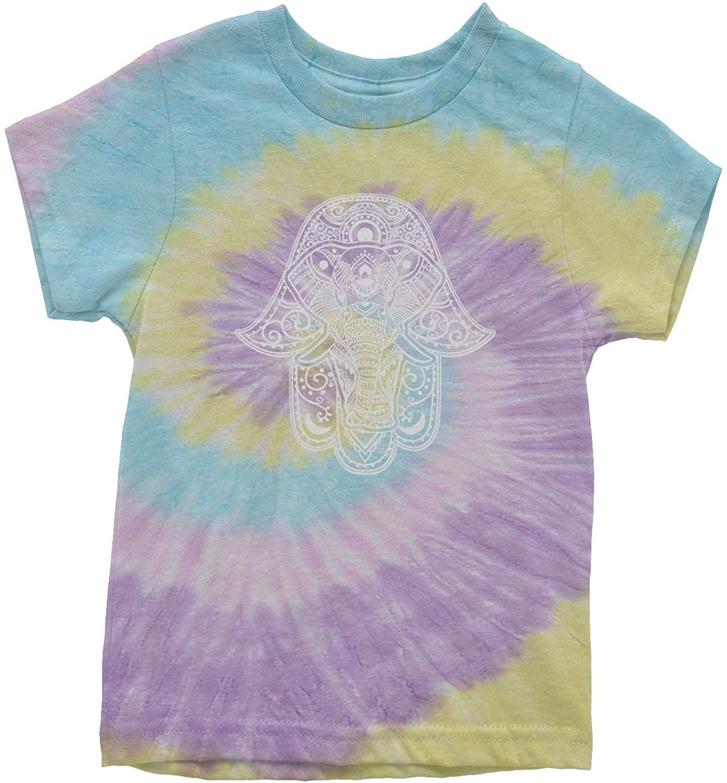 Expression Tees Hamsa with Elephant Mandala Youth Tie-Dye T-Shirt