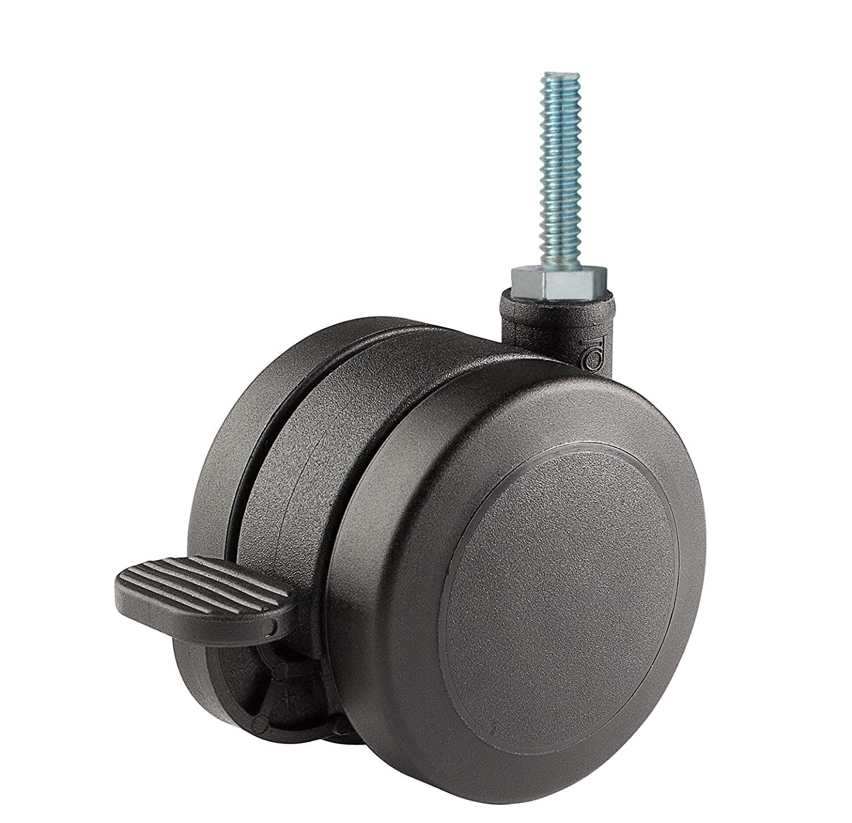 Twin Wheel Caster Solutions TWUN-60U-T03-BK-B 2.36