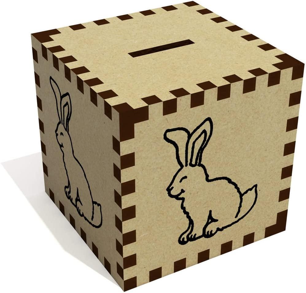 Azeeda 'Fluffy Bunny Rabbit' Money Box / Piggy Bank (MB00039947)