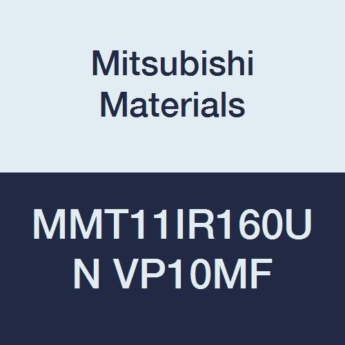 Mitsubishi Materials MMT11IR160UN VP10MF MMT Series Carbide G-Class Internal Ground Threading Insert, American UN Type, Right, Grade VP10MF, 1.6 mm Pitch, 6.35 mm IC (Pack of 5)