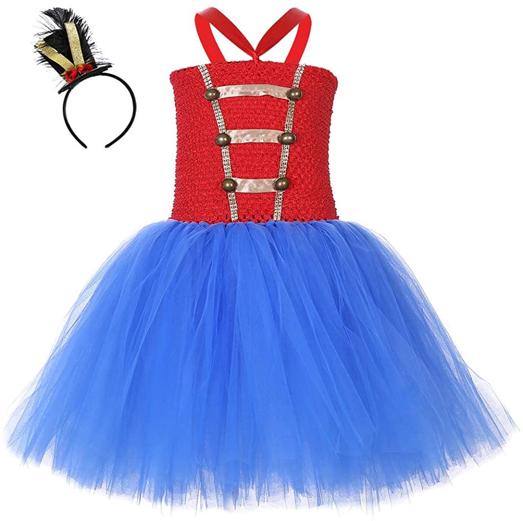 MOCUER Christmas Nutcracker Costume for Girls Halloween Birthday Circus Costumes Tutu Dress