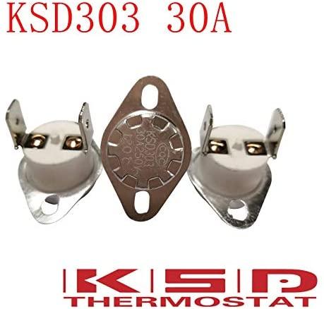 5pcs/lot KSD301/KSD303 40C 40 Degree Celsius 30A250V N.C. Normal Closed Ceramics Temperature Switch Thermostat control switch - (Color: 75C, Voltage: Normal Close-30A)