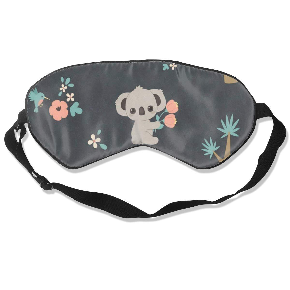 Custom Sleeping Mask Koala Laying On Branch Adjustable Breathable Sleep Mask/Sleeping Eyes Mask/Sleep Eyes Mask/Eyeshade/Blindfold