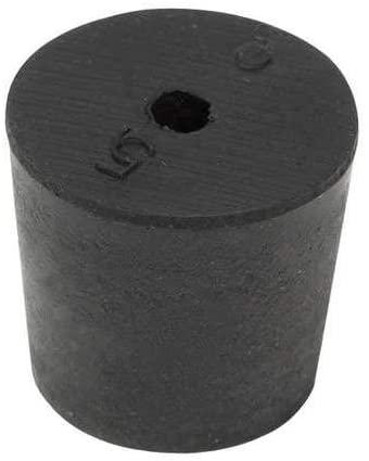 Stopper, 25mm, Rubber, Black, PK30