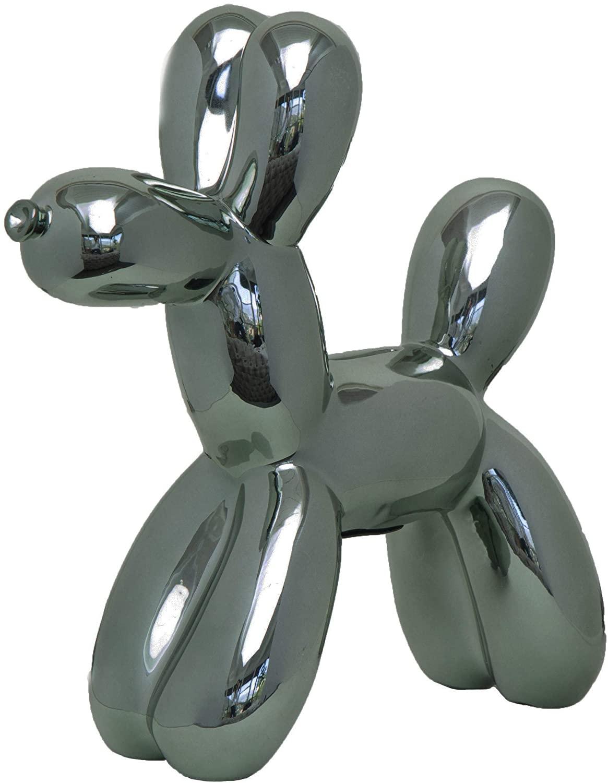 Interior Illusions Graphite Balloon Dog Bank