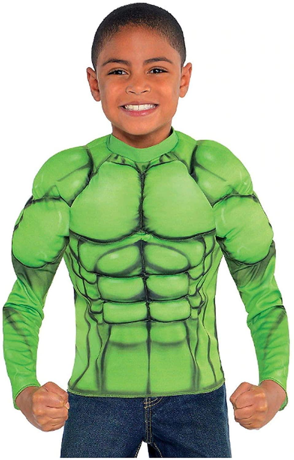 Kids Hulk Muscle Shirt Green