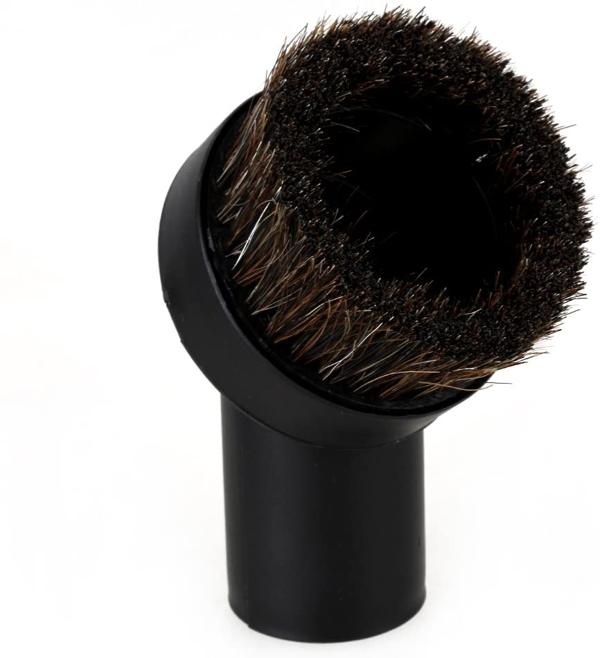 Black 25mm Horse Hair Round Dusting Brush Fit 1.25