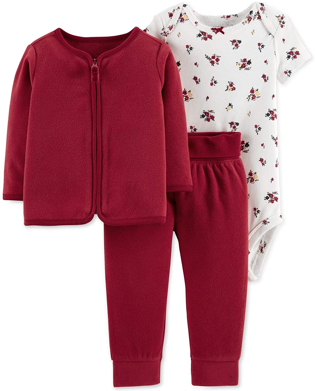 Carter's 3 pc Red Jacket/Pants Bodysuit Set Newborn NWT