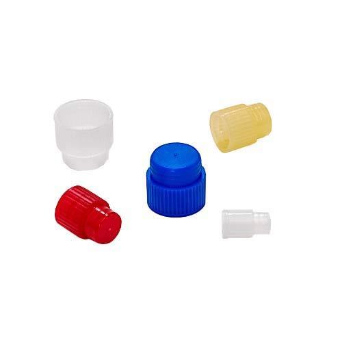 Evergreen 300-2908-G20 Green Polyethylene Cap, Stopper, 8 mm (Pack of 1000)