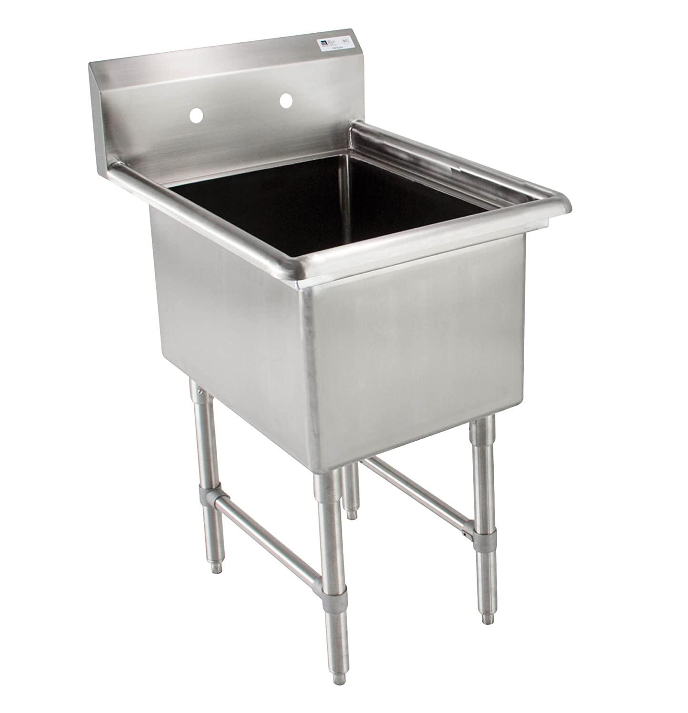 John Boos B Series Stainless Steel Sink, 14 Deep Bowl, 1 Compartment, 23 Length x 23-1/2 Width