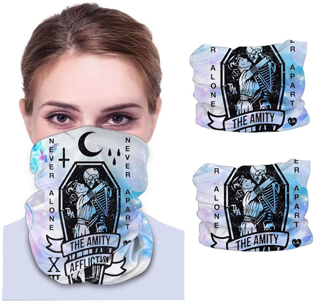 The Amity Affliction Neck Gaiter Face Scarf-Dust, Sun Protection Cool Lightweight Windproof
