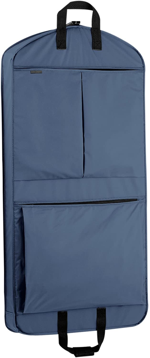WallyBags 45 Extra Capacity Garment Bag with Pockets, Navy, 45 inch