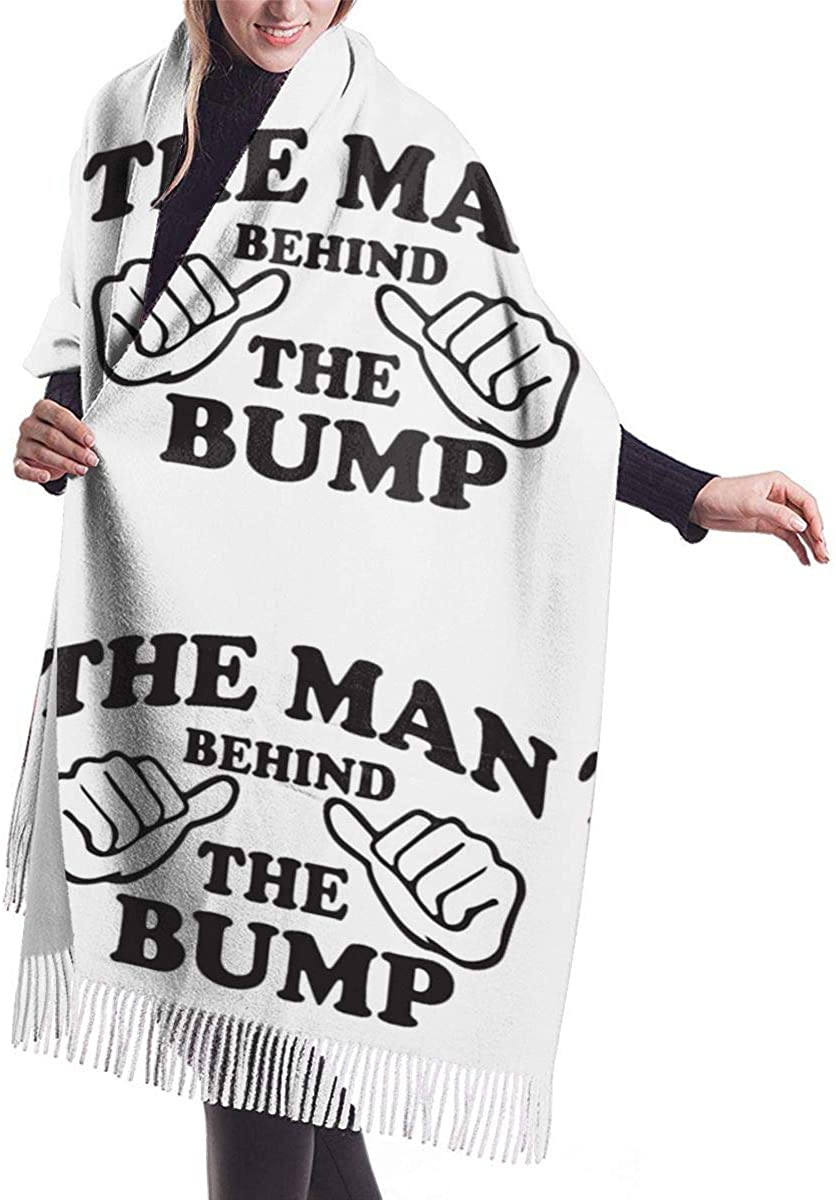 The Man Behind The Bump. Winter Scarf Cashmere Scarves Stylish Shawl Wraps Blanket