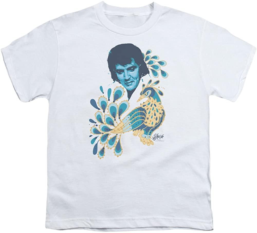 A&E Designs Elvis Presley Kids T-Shirt Peacock Suit White Tee