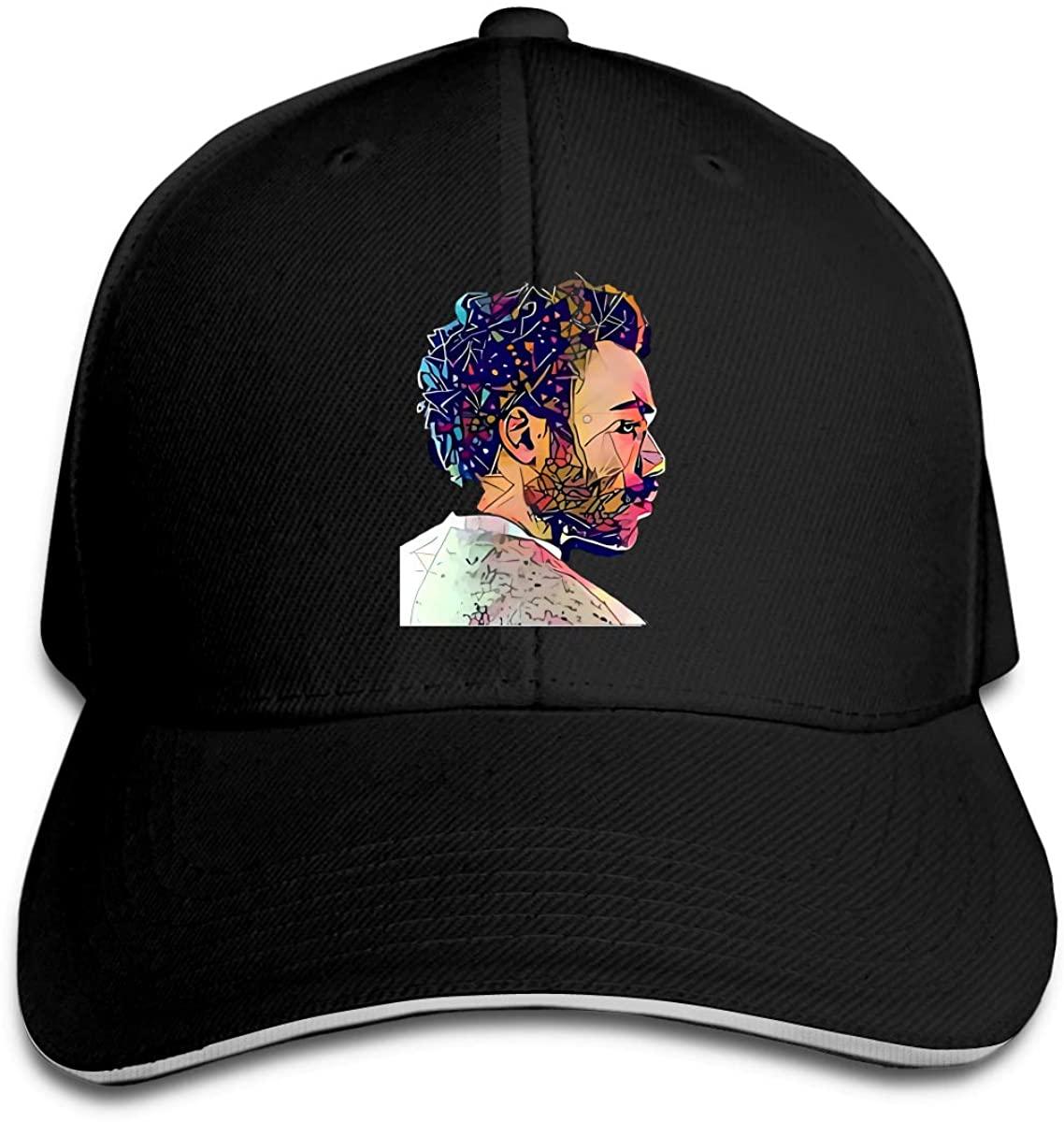 Cool Childish Gambino Hip Hop Baseball Cap Golf Trucker Baseball Cap Adjustable Peaked Sandwich Hat Black Unisex Casquette