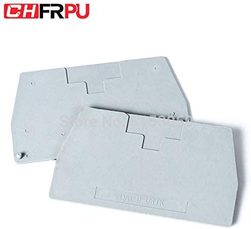 Davitu Terminals - URTK Terminal Block End Cover Plate Din Rail Terminal Blocks accessories - (Color: D-URTK)