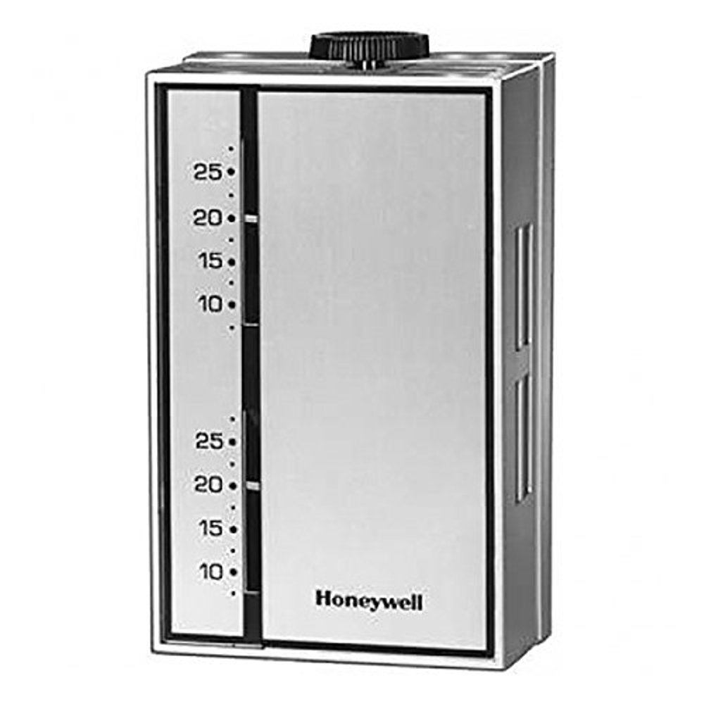 Honeywell T6052A1015 Thermostat, Range 46 to 84F Trade- Line, Slotted Cover and Extra Faceplate for Horiz or Vert. MNT