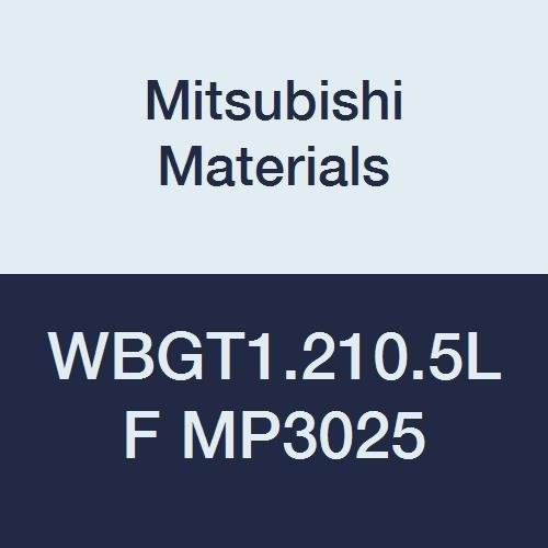 Mitsubishi Materials WBGT1.210.5LF MP3025 Cermet WB Type Positive Turning Insert with Hole, General Cutting, Coated, Trigon, 0.156