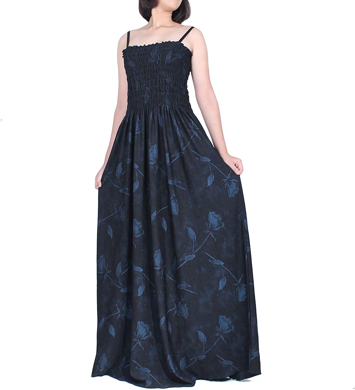 Women Plus Size Party Maxi Black Clothings Floral Summer Evening Boho Dress